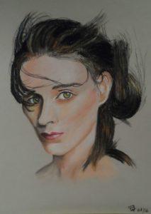 Rebelle pastel sur papier ( 40 x 30 cm)