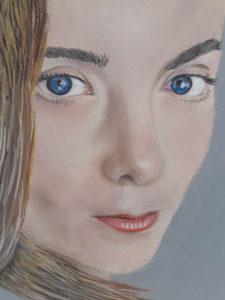 Un certain regard: Pastel sur papier ( 40 x 30 cm)