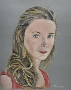 Elle, Pastel sur papier 40 x 50 cm